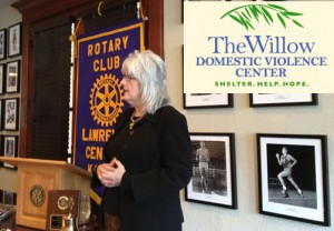 Joan Schultz from the Willow Domestic Violence Center