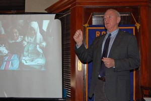 Colonel Gary LaGrange Speaks at Lawrence Central Rotary