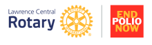 Lawrence Central Rotary Logo with End Polio Now