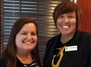 Lawrence Habitat for Humanity's Board President  Lindsey Slater and ED Erika Zimmerman | Lawrence Central Rotary