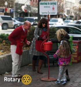 Salvation Army Red Kettle Collection | Lawrence Central Rotary