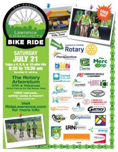Lawrence Community Bike Ride - Summer 2019
